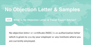 No Objection Letter For Visa Application