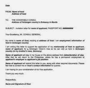 Sponsorship Accommodation Letter