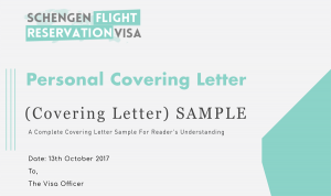 Personal Covering Letter For Visa Application