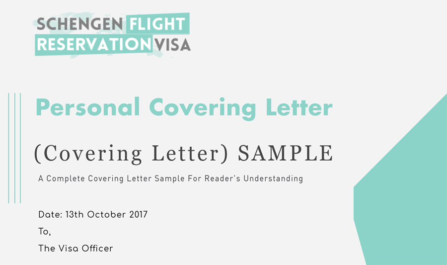 Personal Covering Letter Guide and Samples For Visa