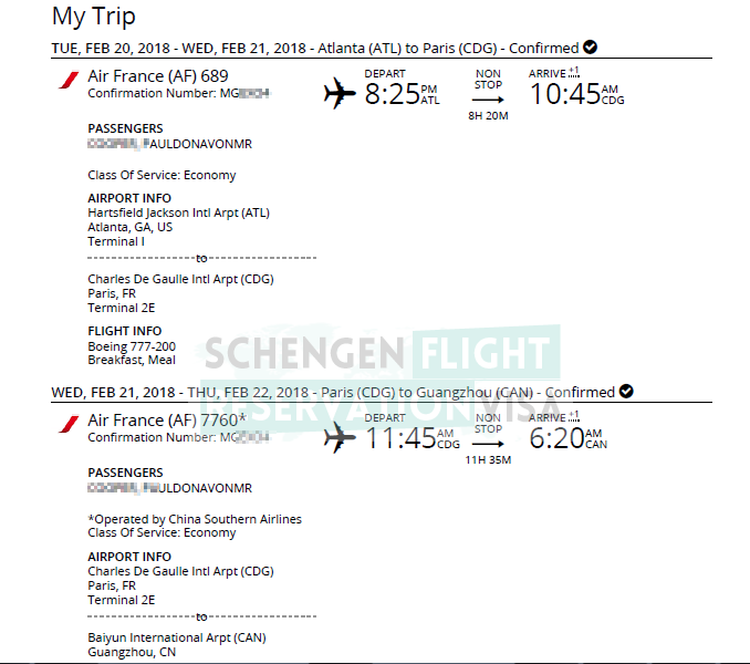 Flight Reservation For Visa Application Without Buying